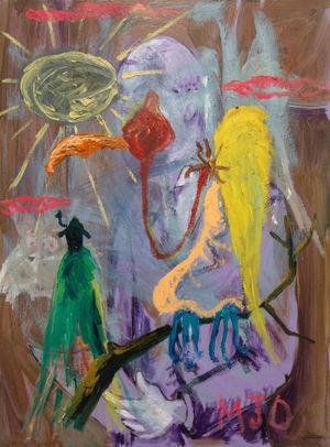 Bird of Bataan 7 by Manuel Ocampo contemporary artwork