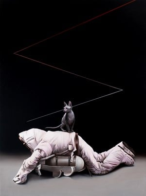 Cat with Space Suit by Sam Leach contemporary artwork