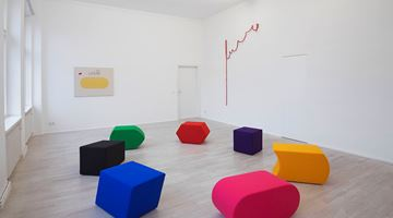 Contemporary art exhibition, Luca Frei, Process charts pLay at Barbara Wien, Berlin, Germany