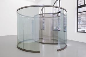 Little Perforated Cylinder inside Big Two-Way Mirror Cylinder by Dan Graham contemporary artwork