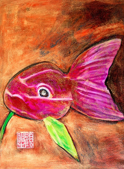The Red Fish 紅魚 by Gu Fusheng contemporary artwork