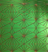La Plena (Triple Diamond Fence) by Carlos Rolón/Dzine contemporary artwork mixed media
