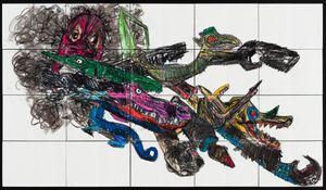 (Baby Folklored Dragon) by Pierre Mukeba contemporary artwork