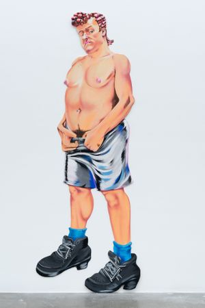 Gay Bar Bathroom Painting by Drake Carr contemporary artwork painting, sculpture