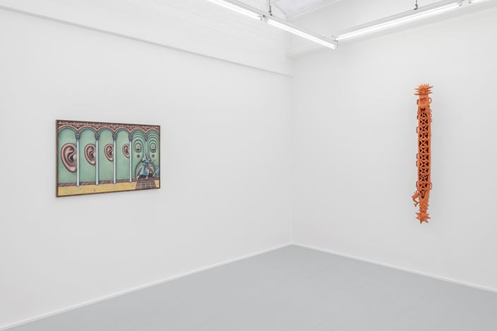 Exhibition view: Group Exhibition, Le Combat de Carnaval et Carême, rodolphe janssen, Brussels (11 January–25 February 2020). Courtesy rodolphe janssen.