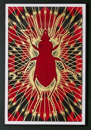 Wittgenstein's Beetle 2733 by Kendell Geers contemporary artwork