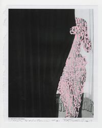 Women Words (Brassaï #8) by Betty Tompkins contemporary artwork painting, works on paper