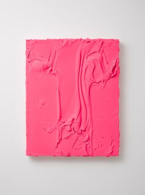 Untitled (Fluorescent pink / Titanium white) by Jason Martin contemporary artwork