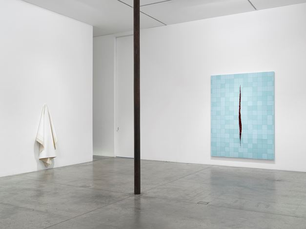 Exhibition view: Group Exhibition,Surface Work,Victoria Miro Gallery I, Wharf Road, London (11 April–19 May 2018). Courtesy Victoria Miro, London/Venice.