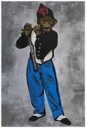 Le Singe Peintre XXIX by Stefan à Wengen contemporary artwork