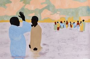 To Live Long Is To See Much (Ritual Bathers III) by Cassi Namoda contemporary artwork