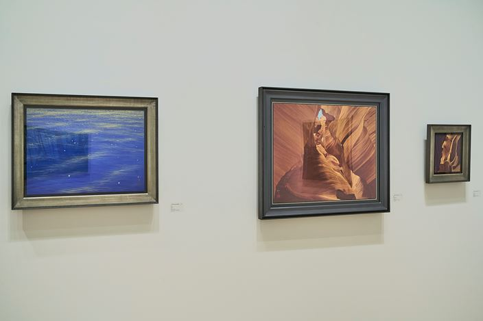 Kazuyuki Futagawa, Two Gestures (2015).Ink, golden paint, golden leaf on hemp paper. 53 x 66.8 cm. Courtesy Whitestone Gallery, Taipei.