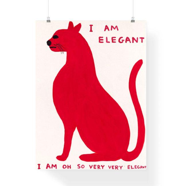 I am so Elegant by David Shrigley contemporary artwork
