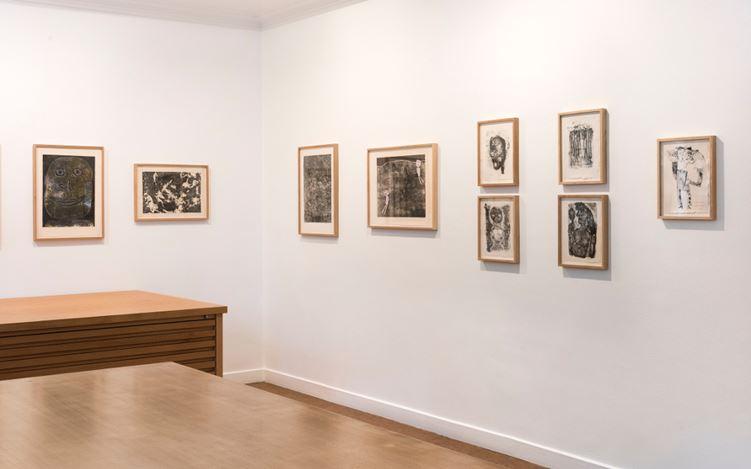 Exhibition view: Jean Dubuffet, Prints, Galerie Lelong & Co, Paris (6 September-7 October 2017). Courtesy Galerie Lelong & Co, Paris.