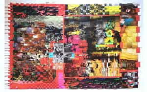 Excess Overstimulation Waste (simulacro) by Anette Kuhn contemporary artwork print, textile
