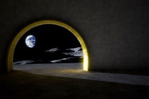 The Moon Temple (Earth Oculus) by Jorge Manes Rubio contemporary artwork