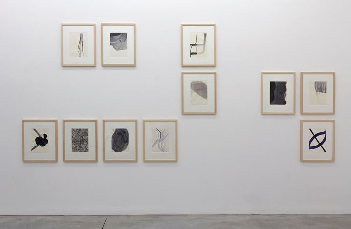 Exhibition view: Thomas Müller,Recent Drawings, Kristof De Clercq gallery, Ghent (5 November–17 December 2017). Courtesy Kristof De Clercq gallery.