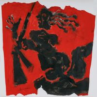 Bandit Queen by M. F. Husain contemporary artwork works on paper
