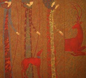 Autumn (four panels) by Timur D'Vatz contemporary artwork