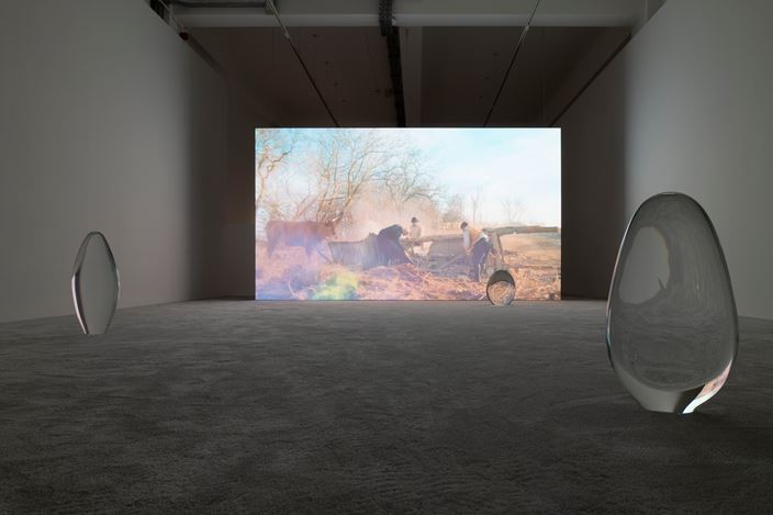 Exhibition view: Rachel Rose,Wil-o-Wisp, Pilar Corrias, London (22 February—30 March 2019). Courtesy the artist and Pilar Corrias. Photo: Damian Griffiths.