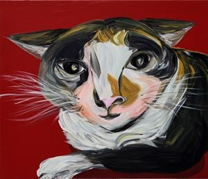 Three-Legged Cat by Aki Kondo contemporary artwork