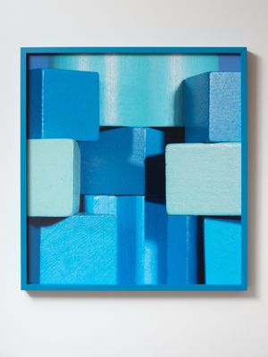 ICON blue (i) by Shaun Waugh contemporary artwork