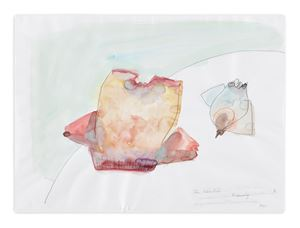 Die Käselust (Cheese Desire) by Maria Lassnig contemporary artwork