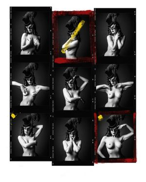 Dita Von Teese Contact Sheet by Andy Gotts contemporary artwork photography, print