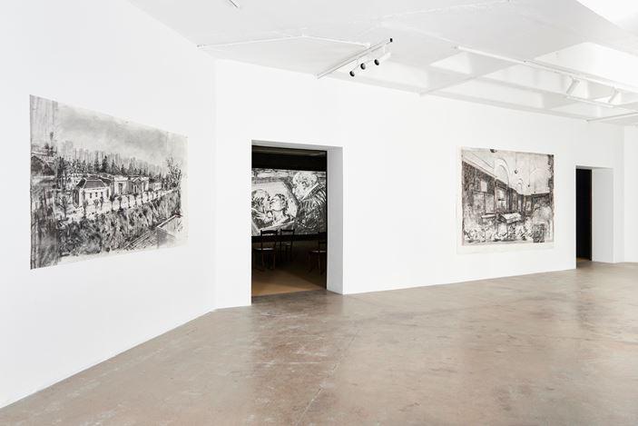 Exhibition view: William Kentridge, City Deep, Goodman Gallery, Johannesburg (1 October–12 November 2020). Courtesy Goodman Gallery, Johannesburg.
