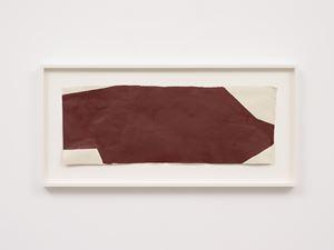 Dark red composition by Suzan Frecon contemporary artwork