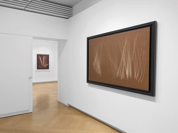 Exhibition view: Group Exhibition, Hans Hartung and ArtInformel, Mazzoleni, London (1 October 2019–18 January 2020). Courtesy Mazzoleni, London-Torino. Photo: Todd-White Art Photography.