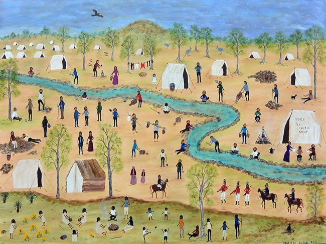 Another day on the Goldfields by Marlene Gilson contemporary artwork