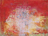 Circuit head with symbols by Yi Kai contemporary artwork painting