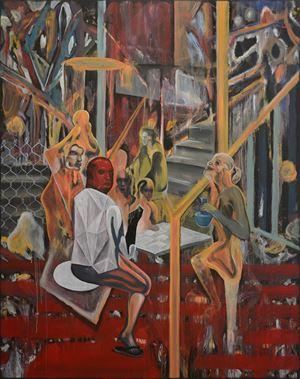 Capital B by Rodel Tapaya contemporary artwork