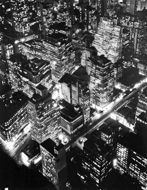 New York at Night by Berenice Abbott contemporary artwork