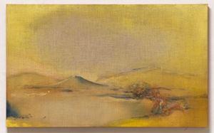 Yellow Scape by Leiko Ikemura contemporary artwork
