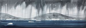 Ice and Rain, Nuuk Fjorden by Andrew Lansley contemporary artwork