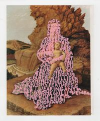Women Words (Mantegna #1) by Betty Tompkins contemporary artwork painting