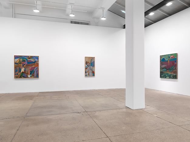 Exhibition view: Ficre Ghebreyesus, Gate to the Blue,Galerie Lelong & Co., New York (10 September–24 October 2020). CourtesyGalerie Lelong & Co., New York.