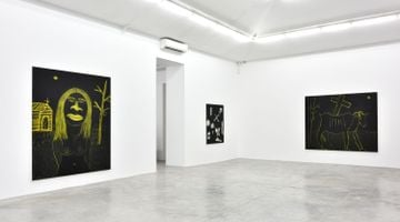 Contemporary art exhibition, Marcus Jahmal, New Religion at Almine Rech, Rue de Turenne, Paris