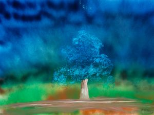 Oak Tree by Sidney Nolan contemporary artwork