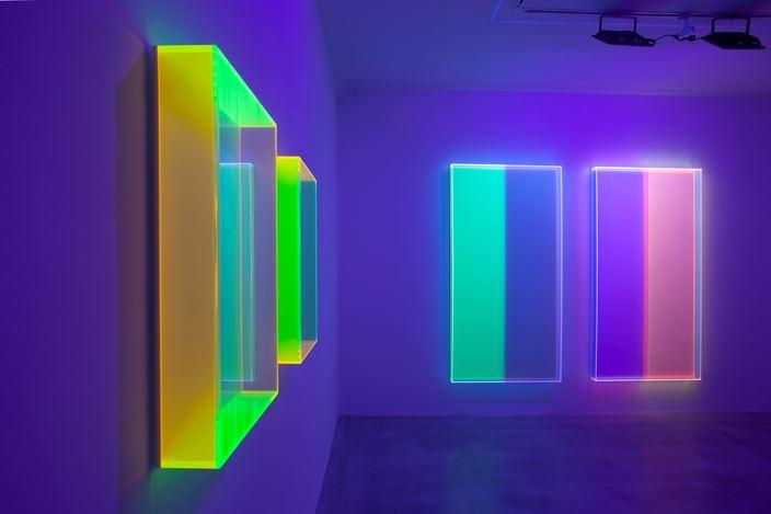 Exhibition view:Regine Schumann, Chromasophia, Dep Art Gallery, Milan (2 February–29 May 2021). Courtesy Dep Art Gallery.