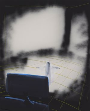 Screen Ghost by Tala Madani contemporary artwork