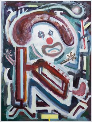 Clown Music by Simon Blau contemporary artwork painting, works on paper