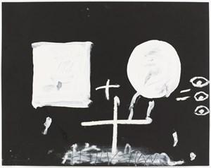 Blanc sobre negre II by Antoni Tàpies contemporary artwork