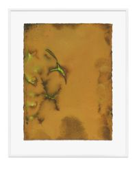 Untitled (Ochre) by Jason Martin contemporary artwork painting, works on paper