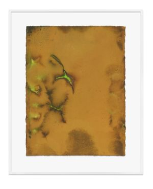 Untitled (Ochre) by Jason Martin contemporary artwork