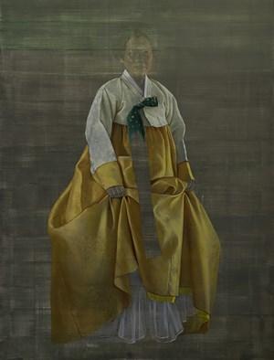 Chong-Za, grey to yellow by Helena Parada Kim contemporary artwork