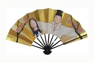 March (Folding Fan) by Taro Yamamoto contemporary artwork