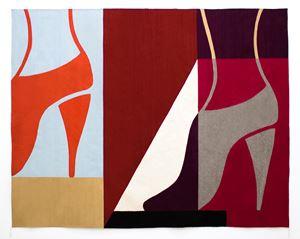 Rug (estamos en contacto) by Ulrike Müller contemporary artwork